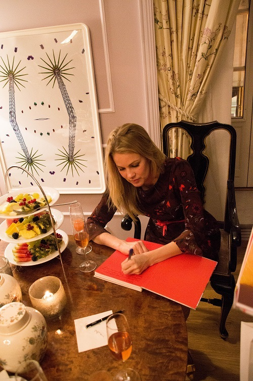 Dagny lanserte boken sin på Grand Hotel. Foto: Guri Haram