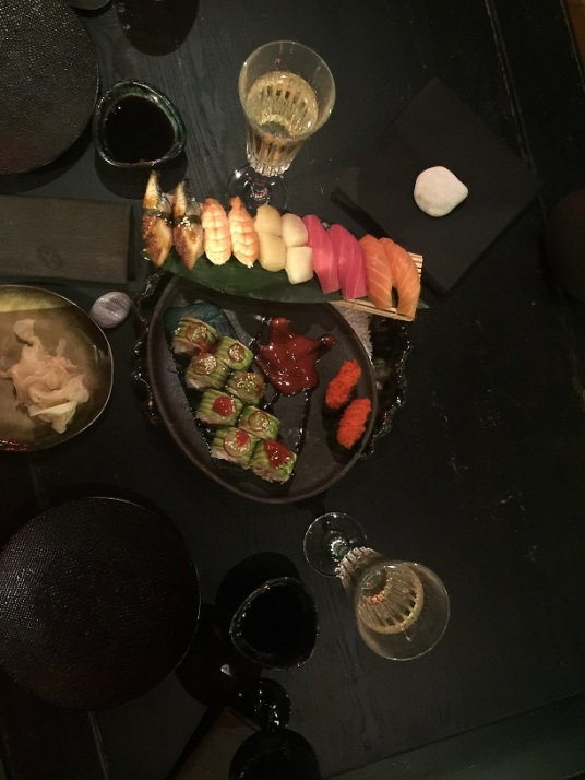 High-end sushi på Madame Wong.