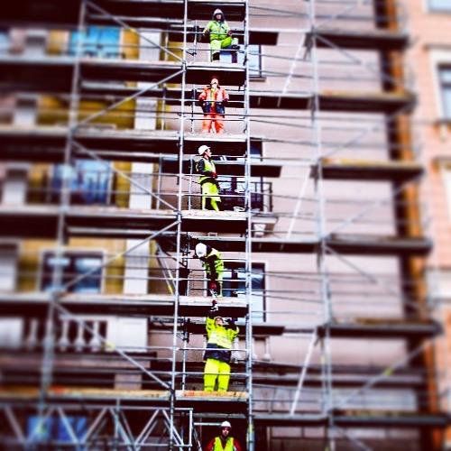 Bygningsarbeidere Riga Latvia