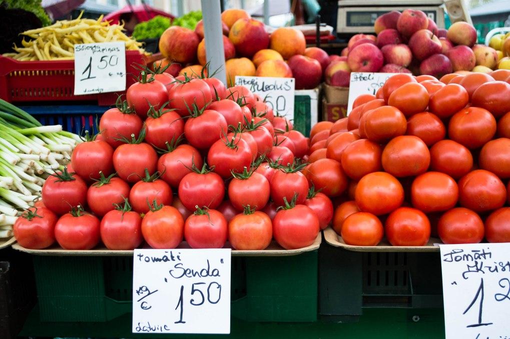 Tomater på matmarkedet